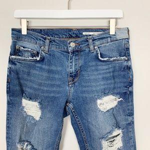 Zara Jeans - Zara Woman Mid Rise Relaxed Fit Jean Indigo Blue 4